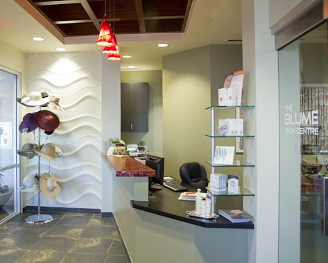 reception desk in scottsdale office